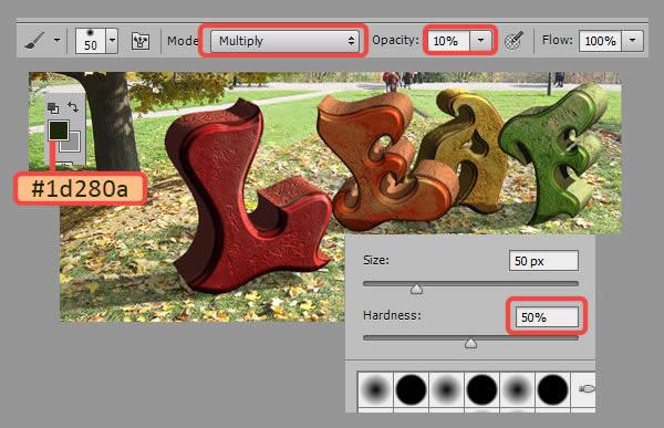 Học step018 Hiệu Ứng Text Mùa Thu với Photoshop CS6 Mở Rộng (P1)