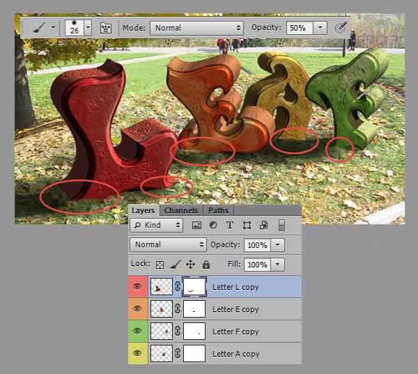Học step019 Hiệu Ứng Text Mùa Thu với Photoshop CS6 Mở Rộng (P1)