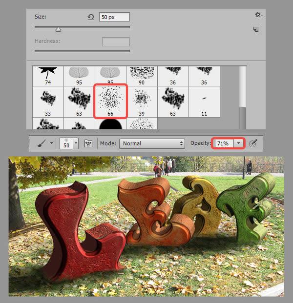 Học step020 2 Hiệu Ứng Text Mùa Thu với Photoshop CS6 Mở Rộng (P1)