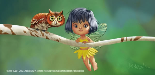 Fairy Owl in The Fun and Upbeat Illustrations of Imaginism Studios