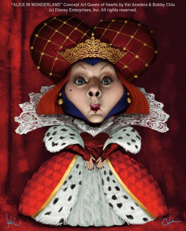 Red Queen in The Fun and Upbeat Illustrations of Imaginism Studios