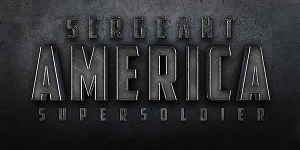 Quick Tip: Create a Cinematic Sergeant America Text Effect in Photoshop