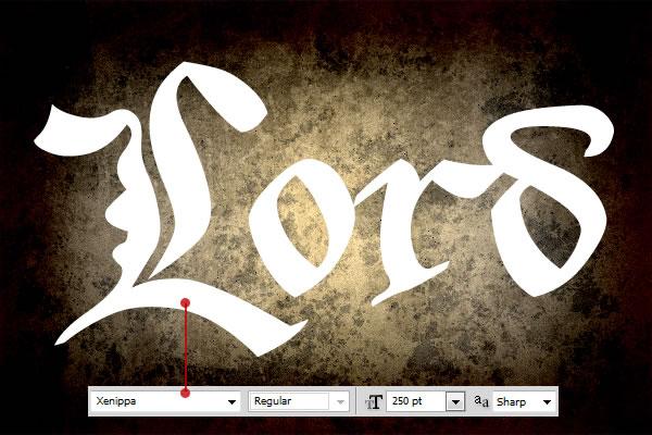 ps设计欧式风格的金属字体(2)