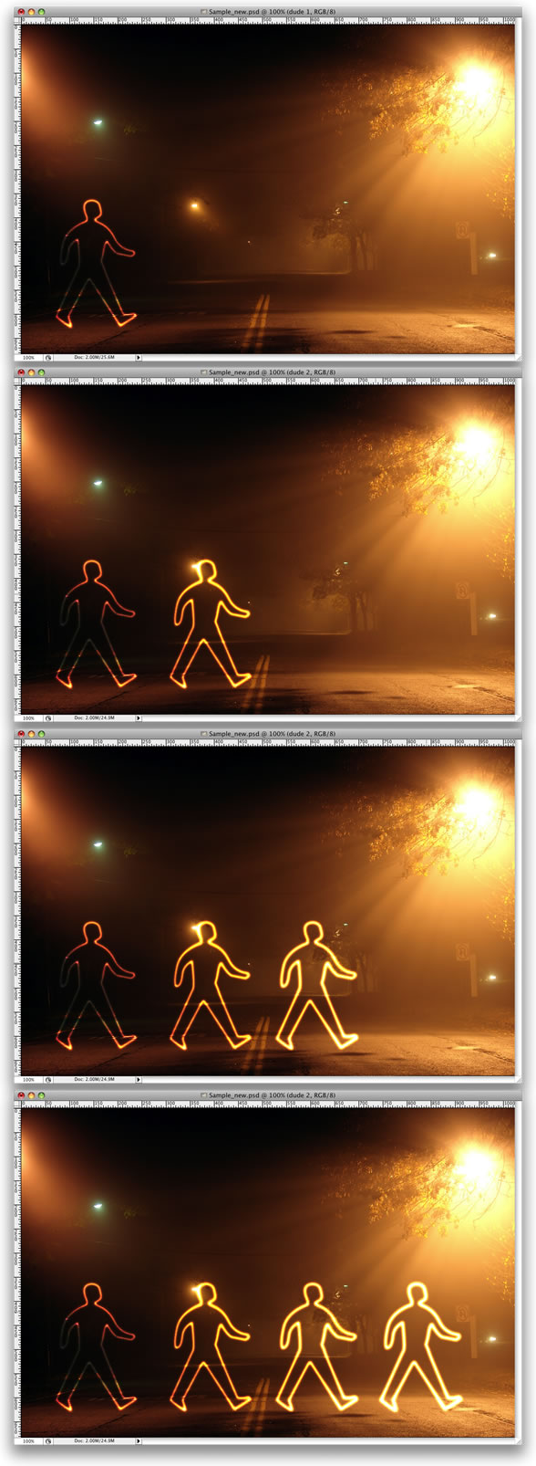 lg s7 Tạo Hiệu Ứng Glowing Light Painting
