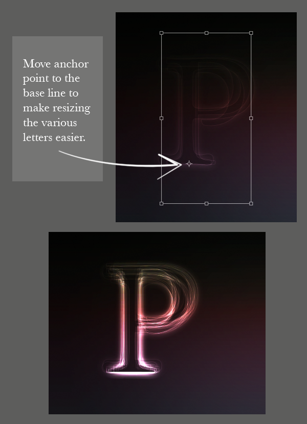step 06 - Create a Layered Glowing Text Effect