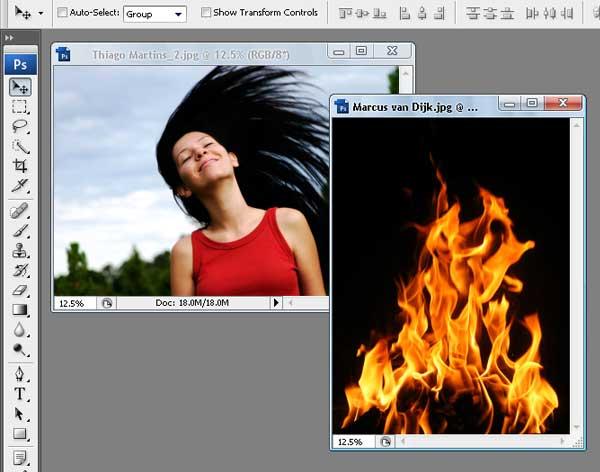 01 - Adobe Photoshop | Yanan fotoğraf manipülasyonu oluşturma ( ileri seviye )