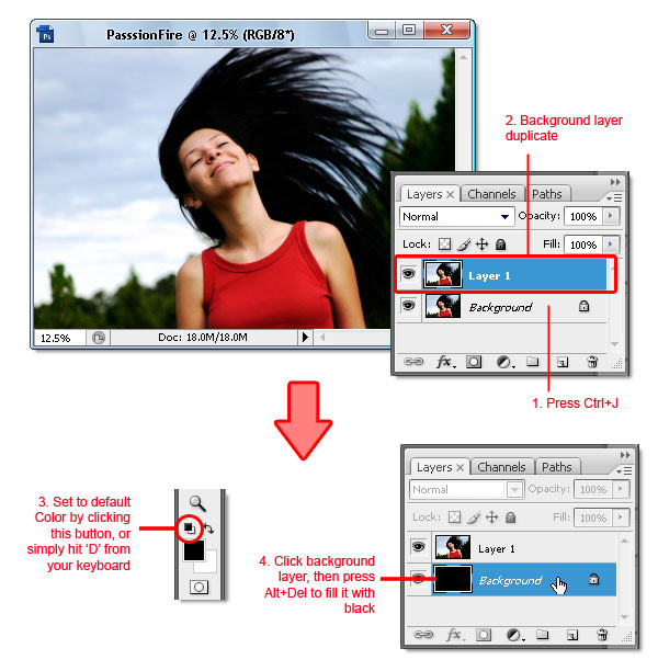 03 - Adobe Photoshop | Yanan fotoğraf manipülasyonu oluşturma ( ileri seviye )