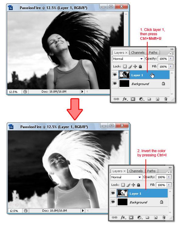 04 - Adobe Photoshop | Yanan fotoğraf manipülasyonu oluşturma ( ileri seviye )