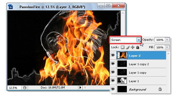 08 - Adobe Photoshop | Yanan fotoğraf manipülasyonu oluşturma ( ileri seviye )