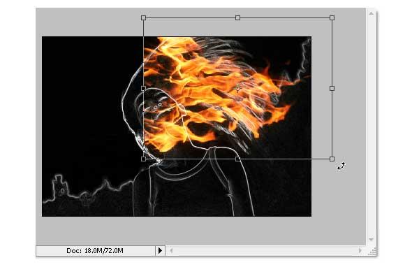 10 - Adobe Photoshop | Yanan fotoğraf manipülasyonu oluşturma ( ileri seviye )