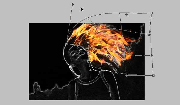 11 - Adobe Photoshop | Yanan fotoğraf manipülasyonu oluşturma ( ileri seviye )