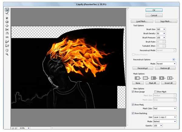 12 - Adobe Photoshop | Yanan fotoğraf manipülasyonu oluşturma ( ileri seviye )