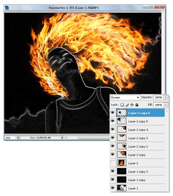 14 - Adobe Photoshop | Yanan fotoğraf manipülasyonu oluşturma ( ileri seviye )