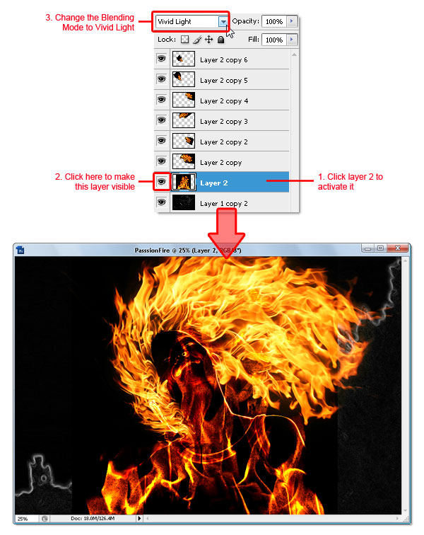 15 - Adobe Photoshop | Yanan fotoğraf manipülasyonu oluşturma ( ileri seviye )