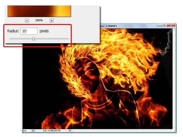 17 - Adobe Photoshop | Yanan fotoğraf manipülasyonu oluşturma ( ileri seviye )