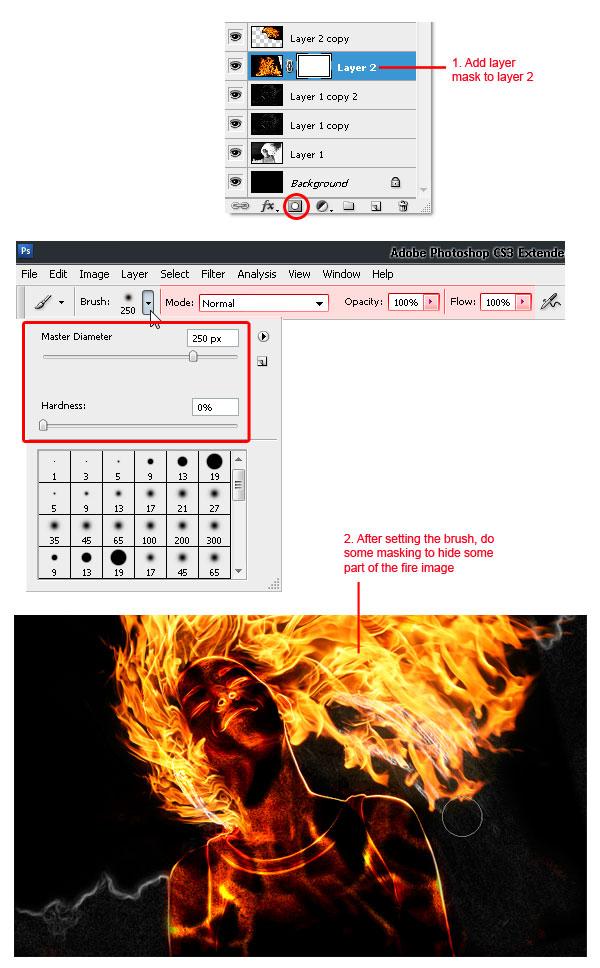 18 - Adobe Photoshop | Yanan fotoğraf manipülasyonu oluşturma ( ileri seviye )