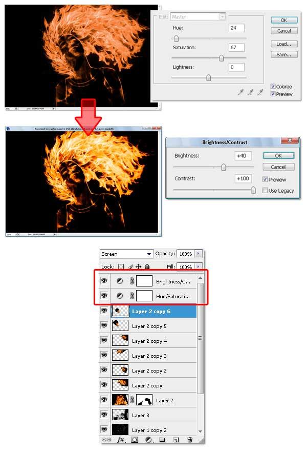 20 - Adobe Photoshop | Yanan fotoğraf manipülasyonu oluşturma ( ileri seviye )