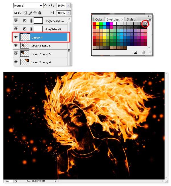22 - Adobe Photoshop | Yanan fotoğraf manipülasyonu oluşturma ( ileri seviye )