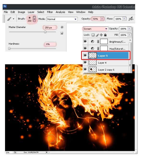 23 - Adobe Photoshop | Yanan fotoğraf manipülasyonu oluşturma ( ileri seviye )