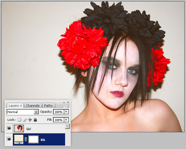 black and white background photoshop cs5. Open it in Photoshop,