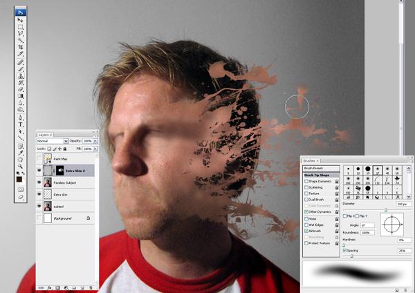 Học Screen%20Shot%208 Tạo Hiệu Ứng Vết Sơn trên Khuôn Mặt trong Photoshop