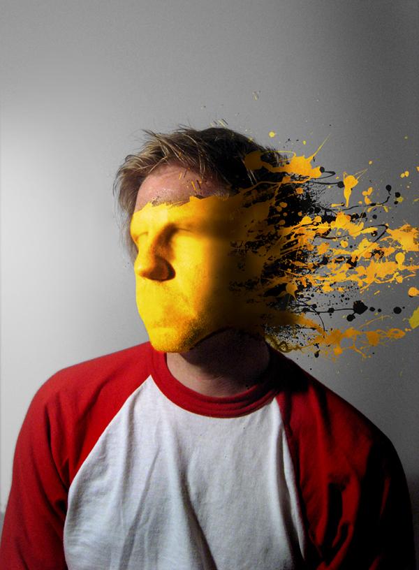 Học final Tạo Hiệu Ứng Vết Sơn trên Khuôn Mặt trong Photoshop