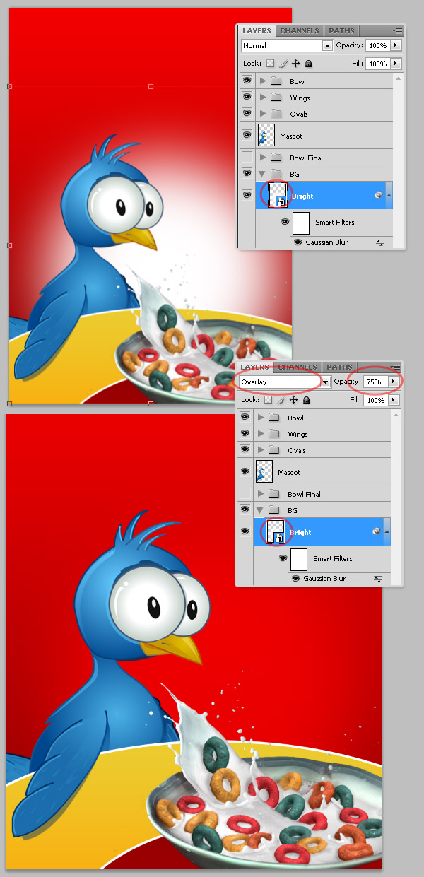 27 in Create a Cereal Box Cover from Scratch Using Photoshop's 3D Tools
