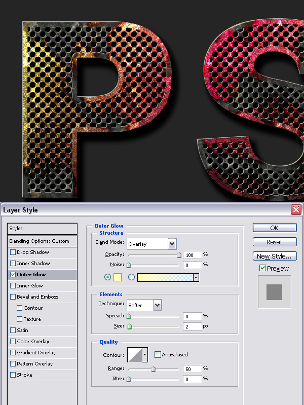 17 - How to Create Eroded Metal Text With Photoshop