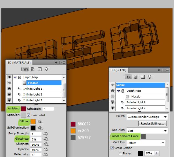 10 Hướng Dẫn Tạo Text Block 3D trong Photoshop