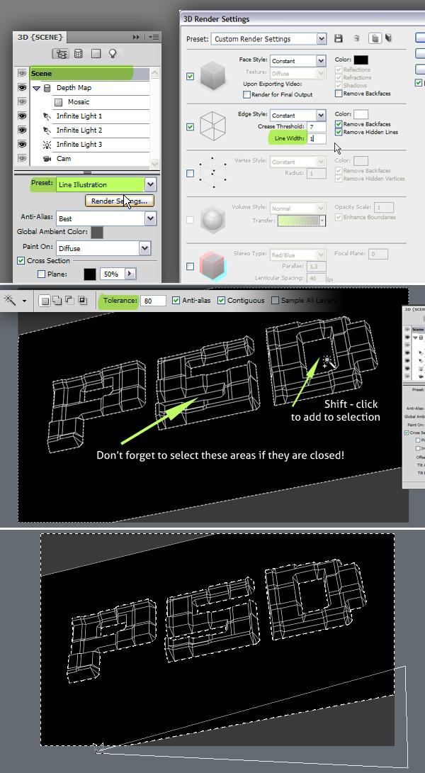 14 Hướng Dẫn Tạo Text Block 3D trong Photoshop