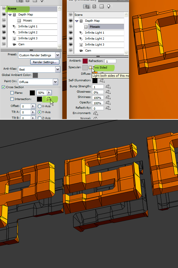 16 Hướng Dẫn Tạo Text Block 3D trong Photoshop