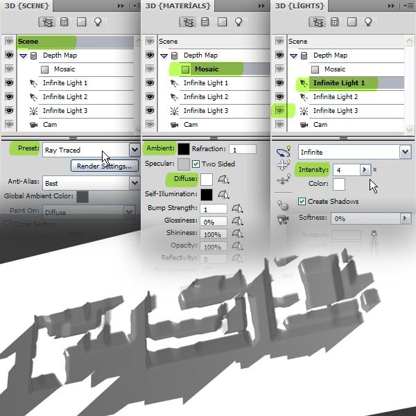 19 Hướng Dẫn Tạo Text Block 3D trong Photoshop