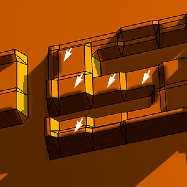 20 Hướng Dẫn Tạo Text Block 3D trong Photoshop