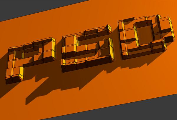 24 Hướng Dẫn Tạo Text Block 3D trong Photoshop
