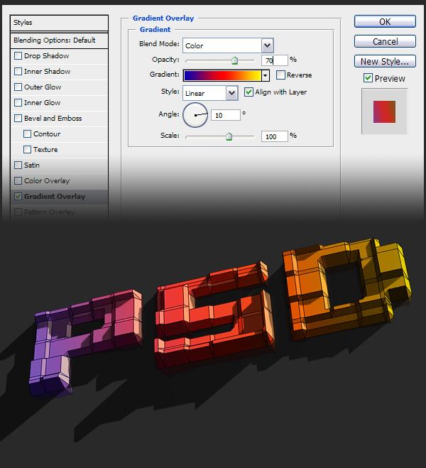 25 Hướng Dẫn Tạo Text Block 3D trong Photoshop