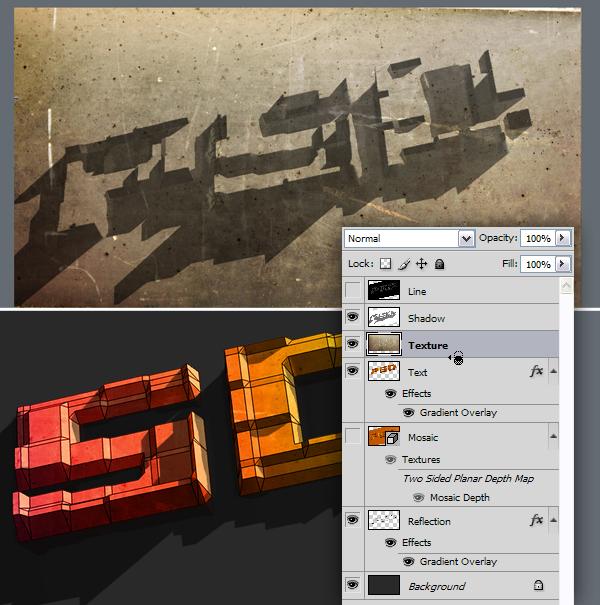 26 Hướng Dẫn Tạo Text Block 3D trong Photoshop