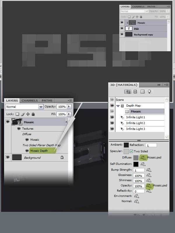 8 Hướng Dẫn Tạo Text Block 3D trong Photoshop