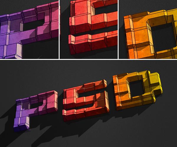 final Hướng Dẫn Tạo Text Block 3D trong Photoshop