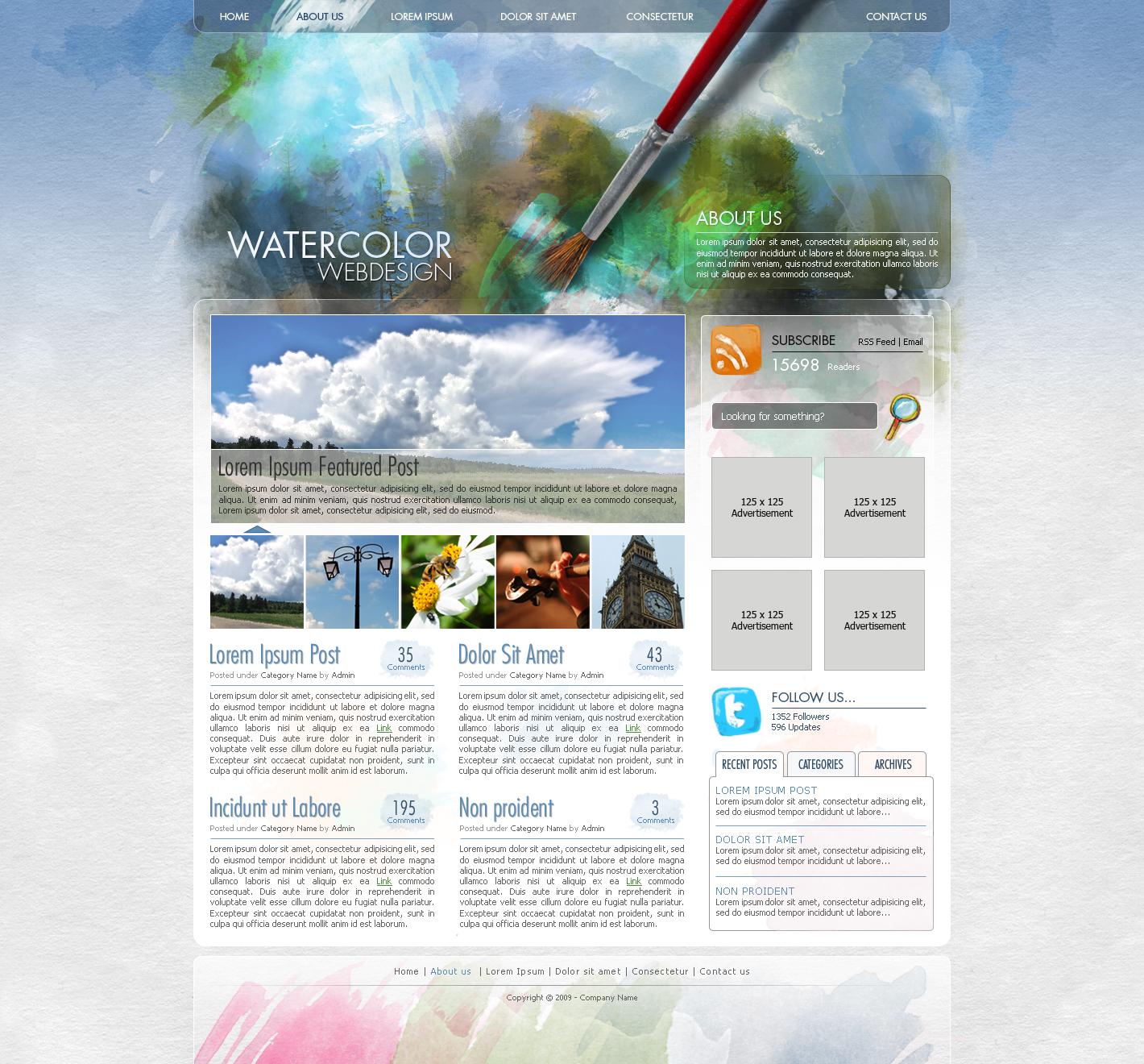 Дизайн к сайту в фотошопе