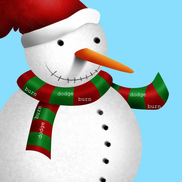 15c Tạo Người Tuyết và Bông Tuyết Lấp Lánh trong Photoshop