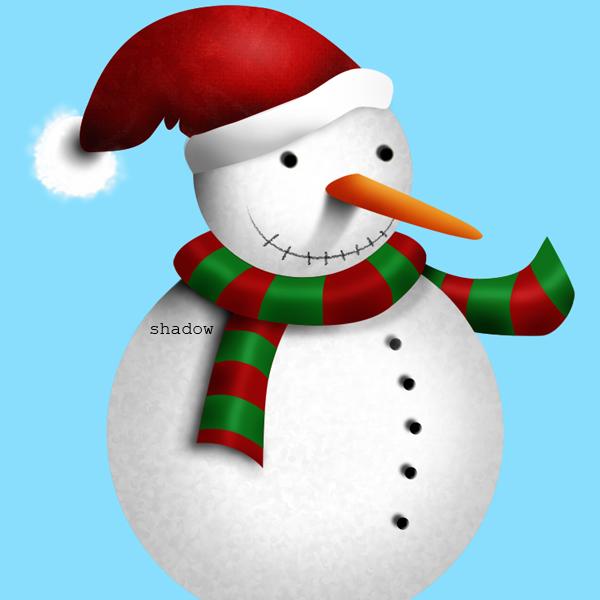 15d Tạo Người Tuyết và Bông Tuyết Lấp Lánh trong Photoshop