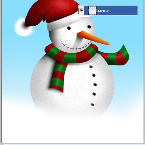 16 Tạo Người Tuyết và Bông Tuyết Lấp Lánh trong Photoshop