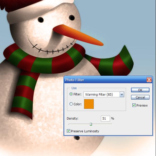 17b Tạo Người Tuyết và Bông Tuyết Lấp Lánh trong Photoshop