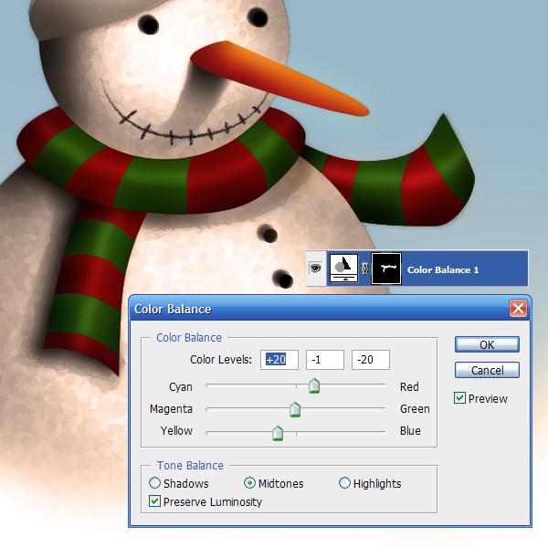 17c Tạo Người Tuyết và Bông Tuyết Lấp Lánh trong Photoshop