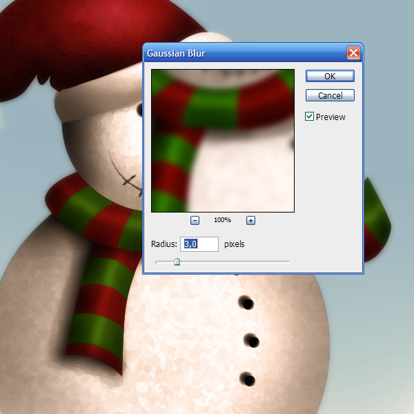 17e Tạo Người Tuyết và Bông Tuyết Lấp Lánh trong Photoshop