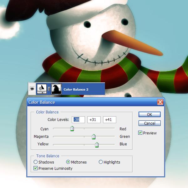 17g Tạo Người Tuyết và Bông Tuyết Lấp Lánh trong Photoshop