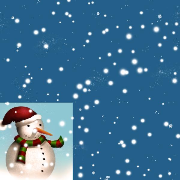 18 Tạo Người Tuyết và Bông Tuyết Lấp Lánh trong Photoshop