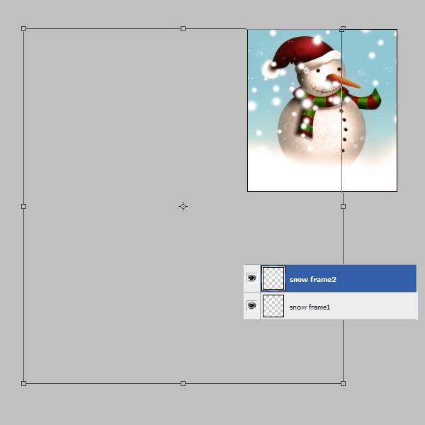 19b Tạo Người Tuyết và Bông Tuyết Lấp Lánh trong Photoshop