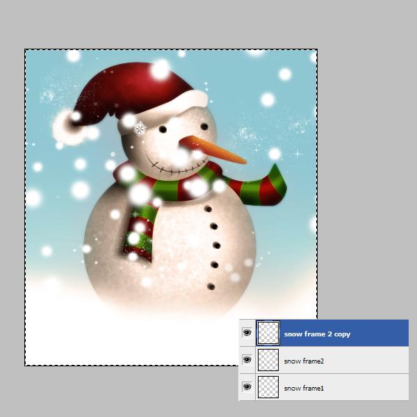 19c Tạo Người Tuyết và Bông Tuyết Lấp Lánh trong Photoshop