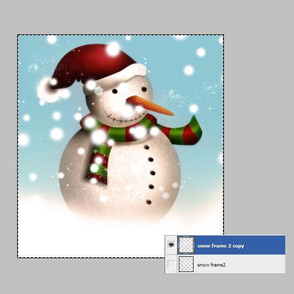 19d Tạo Người Tuyết và Bông Tuyết Lấp Lánh trong Photoshop